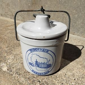 Vintage Wisconsin Homestead Cheese Spread Crock